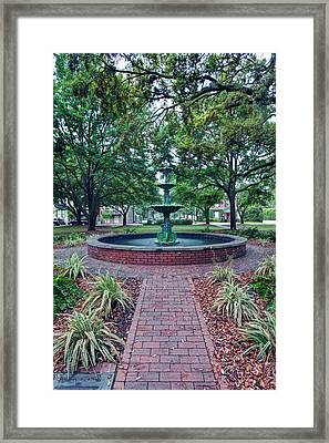 Usa, Ga, Savannah, Historic District Framed Print by Rob Tilley
