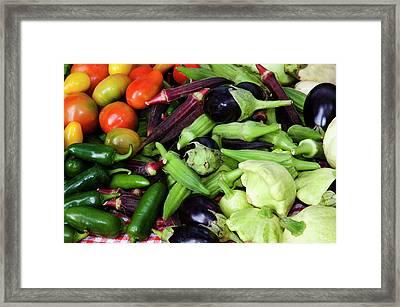 Usa, Georgia, Savannah, Fresh Organic Framed Print