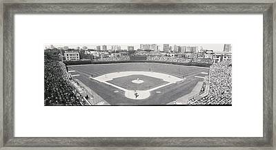 Usa, Illinois, Chicago, Cubs, Baseball Framed Print by Panoramic Images