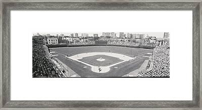 Usa, Illinois, Chicago, Cubs, Baseball Framed Print