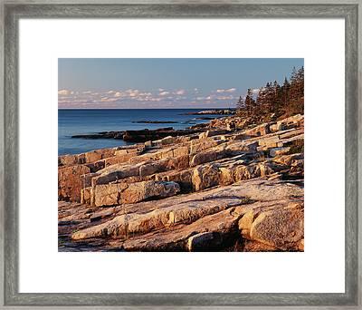 Usa, Maine, Acadia National Park, Mt Framed Print by Adam Jones