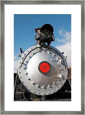 Usa, Nevada Old Steam Locomotive Framed Print