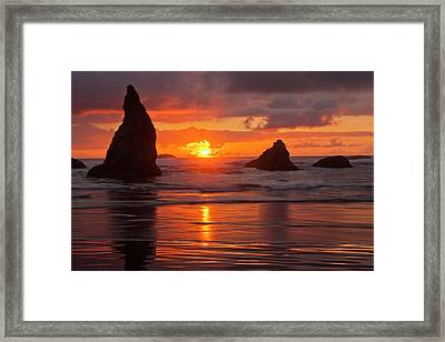 Usa, Oregon, Bandon Beach Framed Print