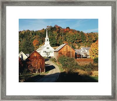 Usa, Vermont, Northeast Kingdom, Waits Framed Print by Walter Bibikow