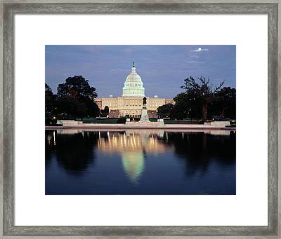 Usa, Washington Dc, Capitol Building Framed Print