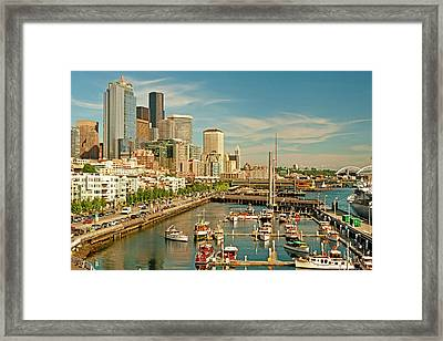 Usa, Washington, Seattle Framed Print by Richard Duval