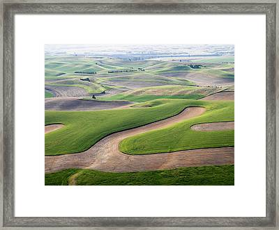 Usa, Washington State, Palouse, Whitman Framed Print by Julie Eggers
