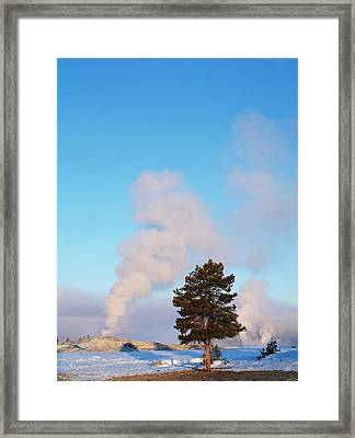 Usa, Wyoming, Yellowstone National Framed Print