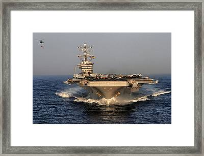 Uss Dwight D. Eisenhower Framed Print
