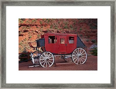 Utah Arizona Border, Navajo Nation Framed Print by David Wall