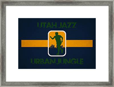 Utah Jazz Framed Print