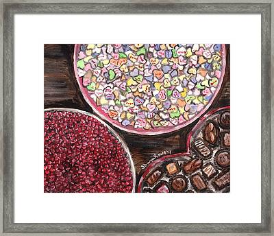 Valentines Day Candy Framed Print by Shana Rowe Jackson