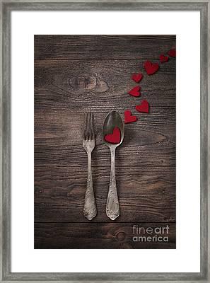 Valentines Dinner Framed Print