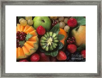 Variety Of Fruits. Framed Print