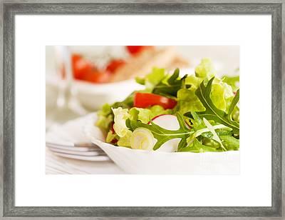 Vegetable Salad Framed Print by Mythja  Photography