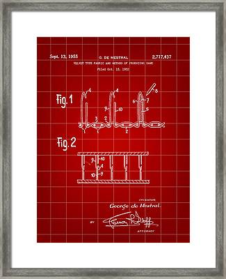 Velcro Patent 1952 - Red Framed Print by Stephen Younts