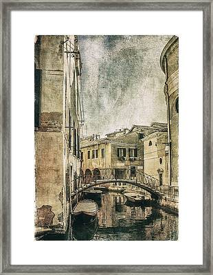 Venice Back In Time Framed Print