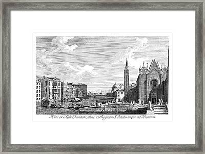 Venice Grand Canal, 1735 Framed Print by Granger