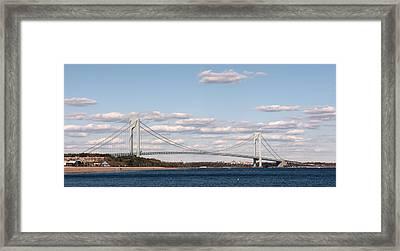 Verrazano Narrows Bridge Framed Print