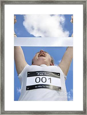 Victory Celebration Framed Print