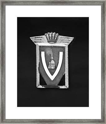 Vignale Emblem Framed Print by Jill Reger