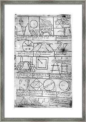 Villard De Honnecourt (fl Framed Print