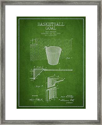 Vintage Basketball Goal Patent From 1925 Framed Print