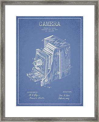 Vintage Camera Patent Drawing From 1887 Framed Print