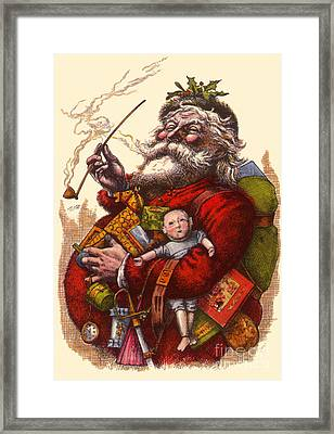 Vintage Christmas Illustration Framed Print