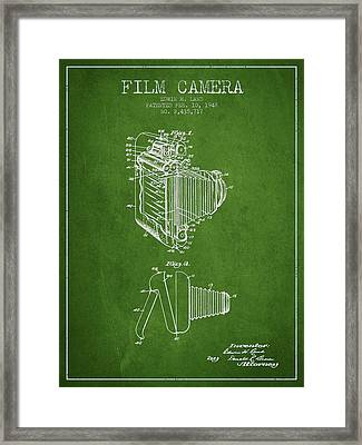 Vintage Film Camera Patent From 1948 Framed Print