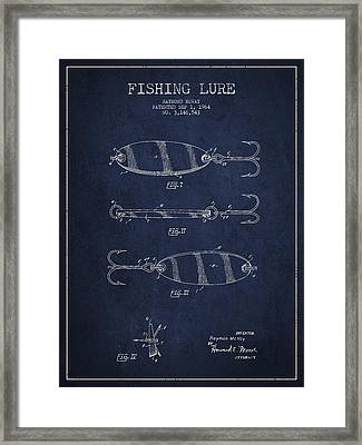 Vintage Fishing Lure Patent Drawing From 1964 Framed Print