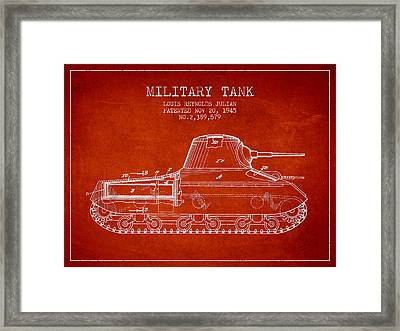Vintage Military Tank Patent From 1945 Framed Print