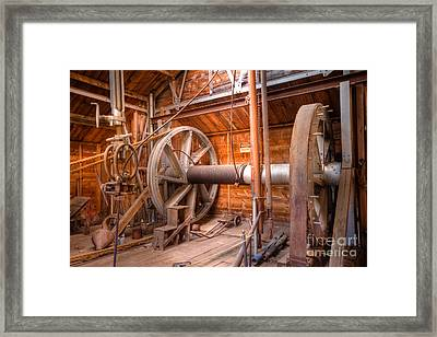 Framed Print featuring the photograph Vintage Power by Lawrence Burry