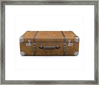 Vintage Suitcase Framed Print by Ktsdesign