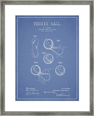 Vintage Tennnis Ball Patent Drawing From 1914 Framed Print