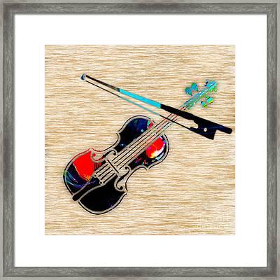 Violin Framed Print by Marvin Blaine