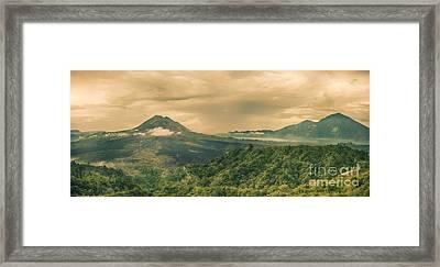 Volcano Batur Framed Print