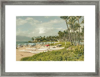 Wailea Beach Maui Hawaii Framed Print by Sharon Mau