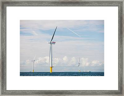Walney Offshore Windfarm Framed Print by Ashley Cooper