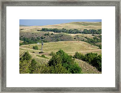 Water Pump Windmill Framed Print by Jim West