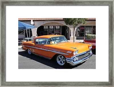 Water Street Custom Car Show Framed Print