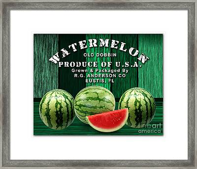 Watermelon Farm Framed Print by Marvin Blaine