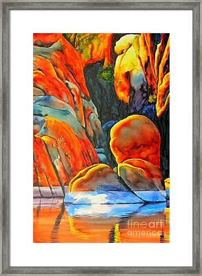Watson Lake Framed Print by Robert Hooper