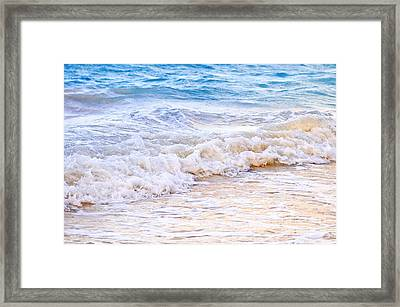 Waves Breaking On Tropical Shore Framed Print