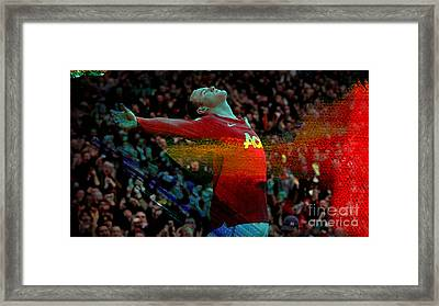 Wayne Rooney Framed Print by Marvin Blaine