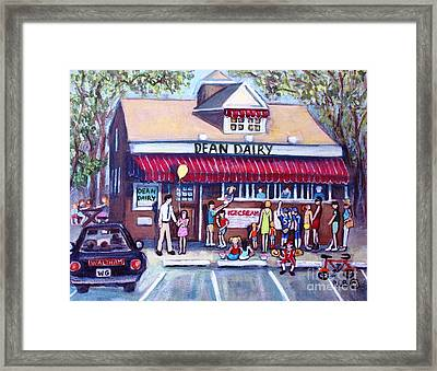 We All Scream For Ice Cream Framed Print by Rita Brown