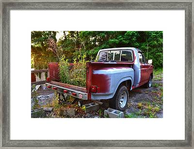 Weathered Truck Framed Print