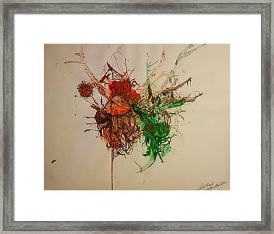 Wet Dinosaurs Framed Print by Nickolas Kossup