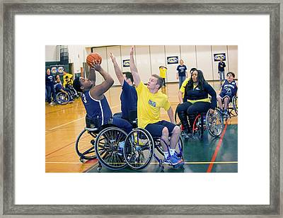 Wheelchair Basketball Framed Print by Jim West