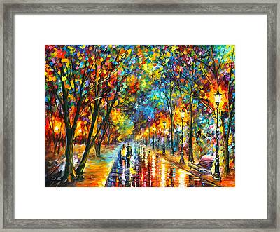 When Dreams Come True Framed Print by Leonid Afremov